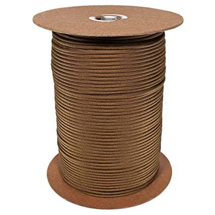 1000 Foot Coyote Brown Color 550 lb 7 Strand Paracord