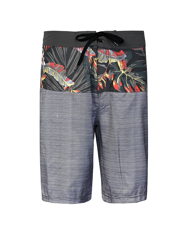 4aaef1e57a Men's Tropical Stripe Quick Dry Board Shorts Swim Trunks good ...