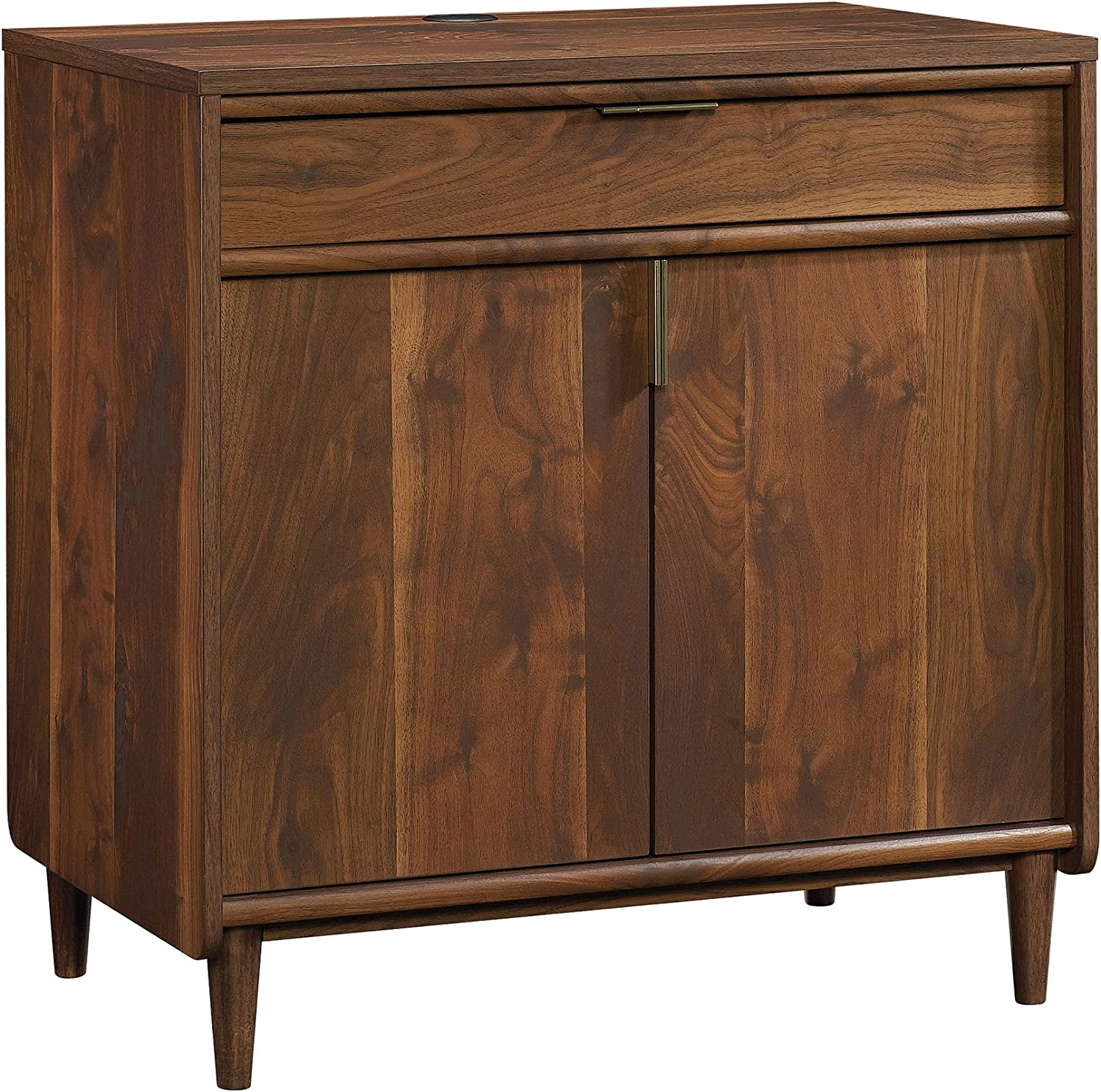 Sauder Clifford Place Library Base, Grand Walnut finish