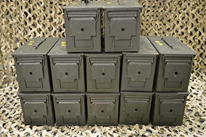 THREE 50 CAL GRADE 1 AMMO CANS M2A1 5.56 EMPTY AMMUNITION CANS 3-PACK