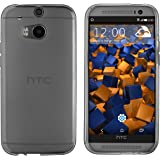 mumbi Schutzhülle HTC One M8/M8s Hülle transparent schwarz
