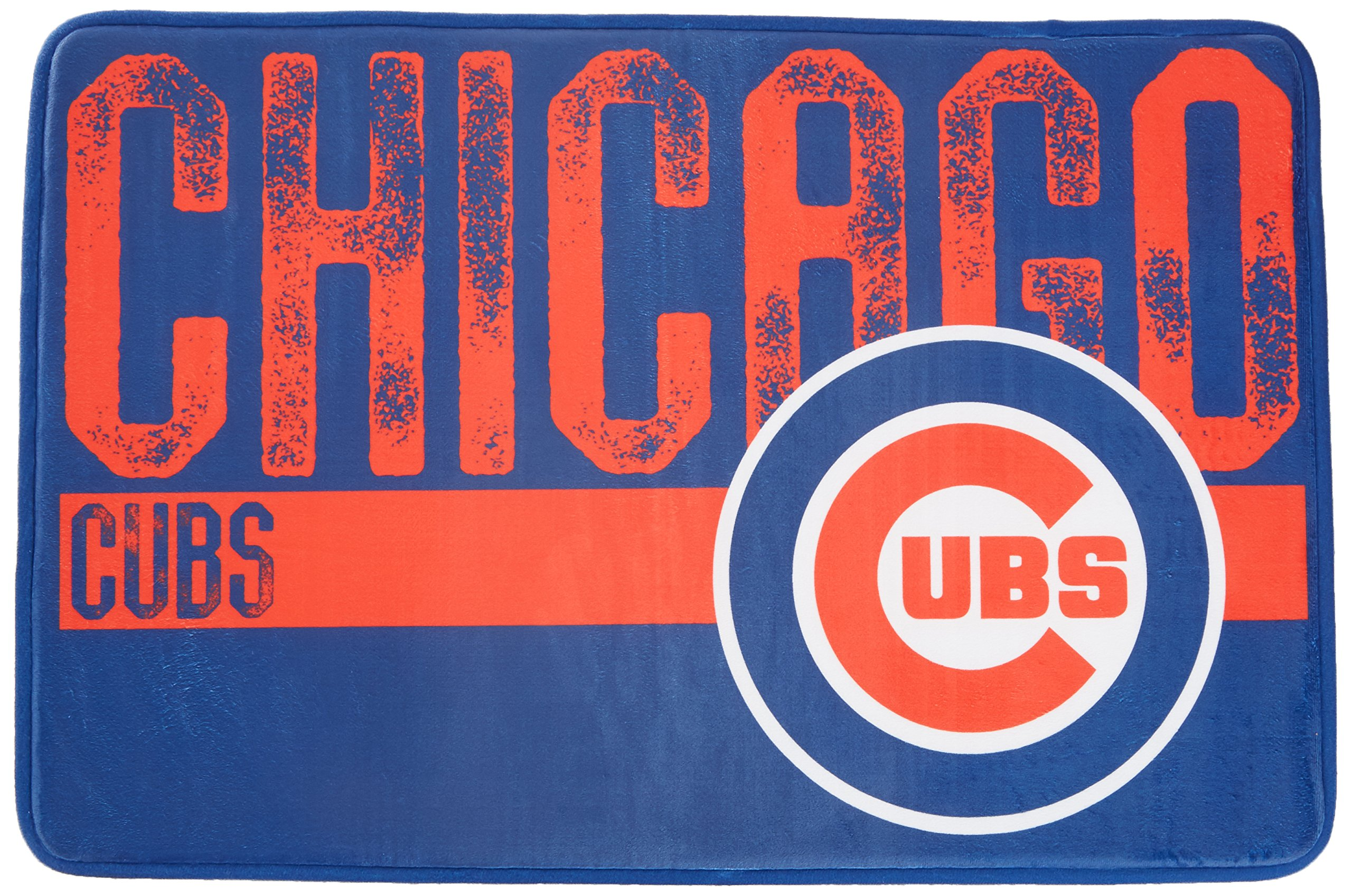 The Northwest Company MLB Chicago Cubs Embossed Memory Foam Rug, One Size, Multicolor