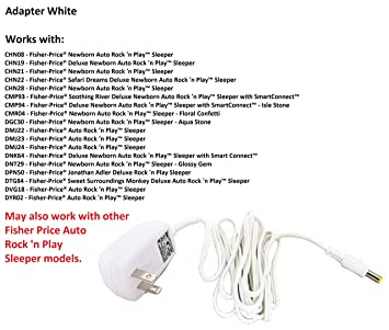 Replacement AC Adapter (adaptor)/Power Plug Cord (White) for Fisher on