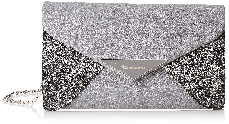 Tamaris Damen Fernanda Clutch, 11,5x3x19 cm Schwarz (Black Comb.) 2847182