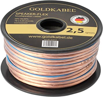 15 M de cable bobina de oro 99,99% OFC speaker-Flex Colour