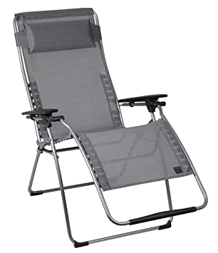 Lafuma Futura Clipper Xl Folding Chair   Ac Composite Arm (Carbon   Grey  Frame)