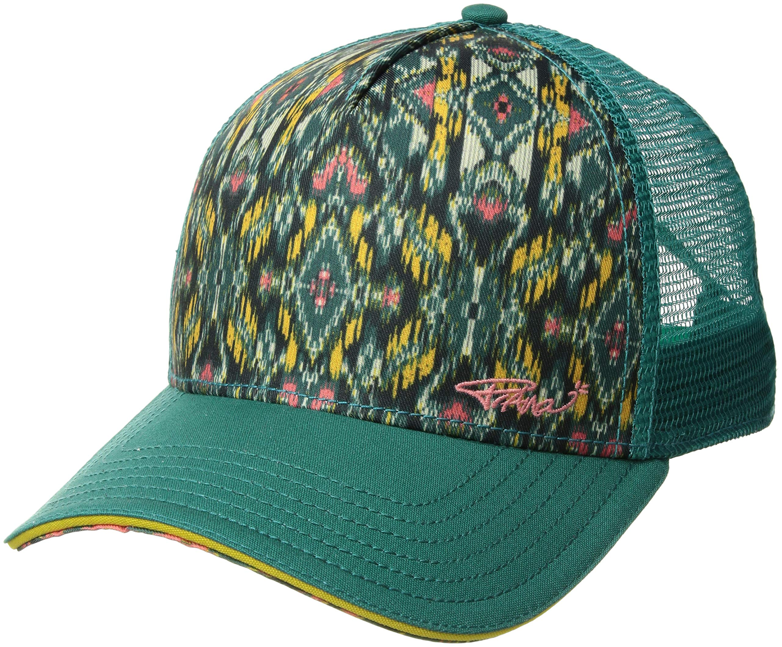 prAna Women's La Viva Trucker Cold Weather Hats, One Size, Teal Flores