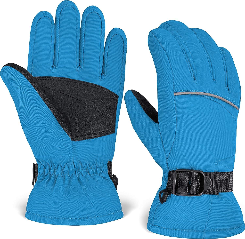 Winter Waterproof Warm Kids Boy Girl Gloves Ski Children Mittens Snow Outdoor US