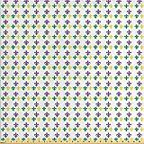 Ambesonne 数码印花多色面料按码出售 紫色黄色 1 Yard fab_40180_1