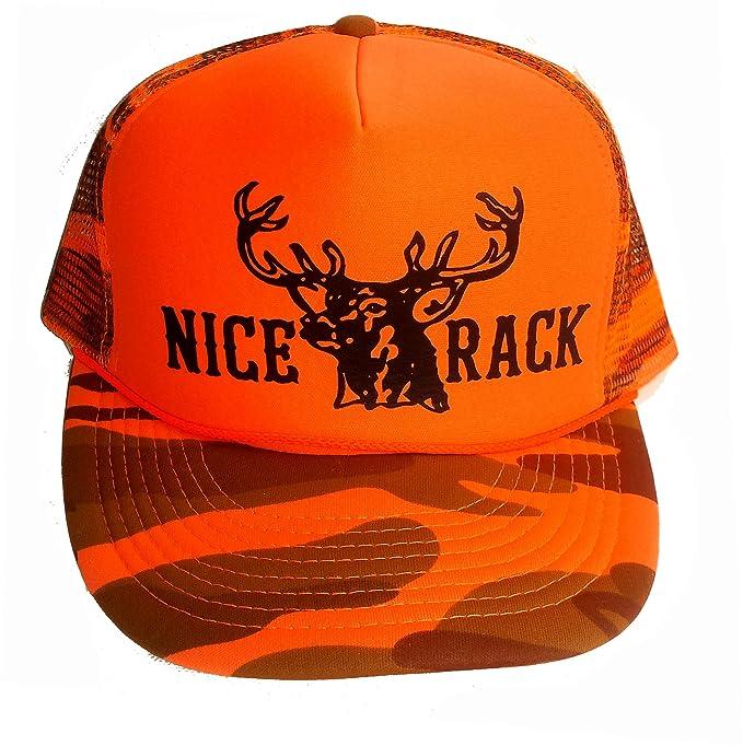 3a9941261a5 Amazon.com  Nice Rack Orange Camouflage Camo Mesh Trucker Hat Cap ...