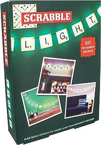 Paladone Scrabble Customizable Letter Tiles Light With Reusable Vinyl Stickers - Decor Light