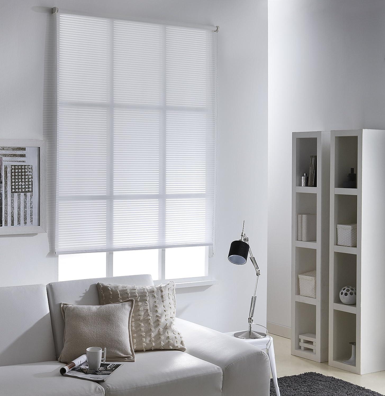 MADECO Store Enrouleur Voile Ajour/é 90 x 190cm-Blanc Blanc