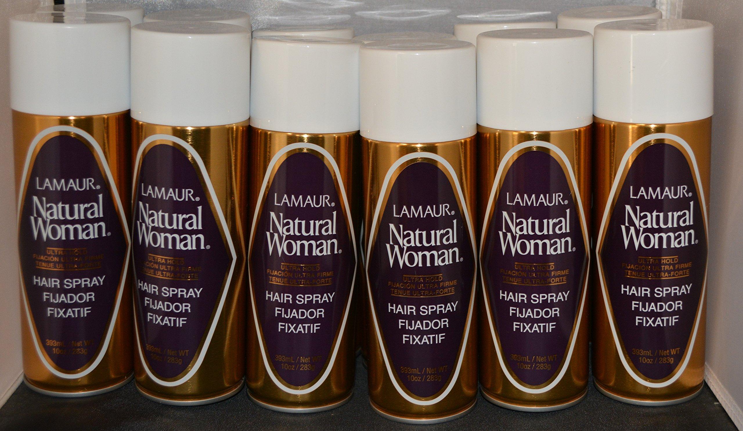 Lamaur Natural Woman Ultra Hold Professional Hair Spray 80% Voc 10 oz (12 pack)