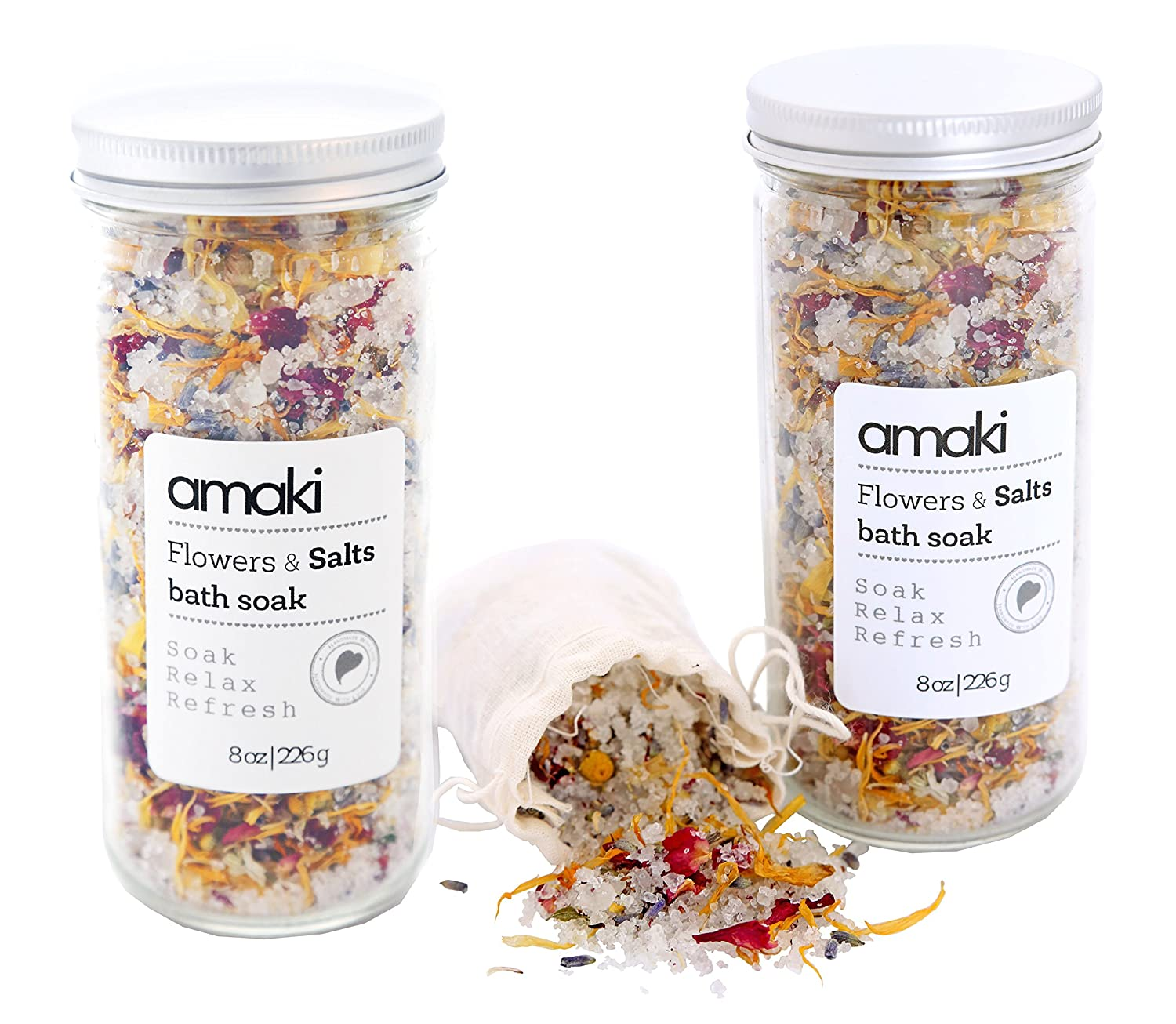 AMAKI SKINCARE Flowers and Salts Bath Soak Set