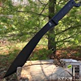 """19"""" Full Tang Tactical Survival Fixed Blade Machete Sheath Sword Knife + Free eBook by Survival Steel"""