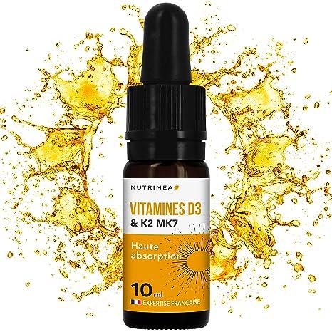 nutrimea Vitamines D3 K2 MK7 ▫ 100% aromatizar y naturales con aceite de oliva bio ▫ Renforce la inmunidad, salud de los dientes, des os y músculos ...