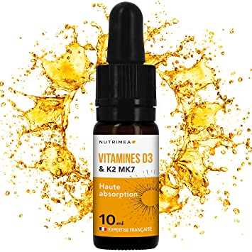 nutrimea Vitamines D3 K2 MK7 ▫ 100% aromatizar y naturales con aceite de oliva bio