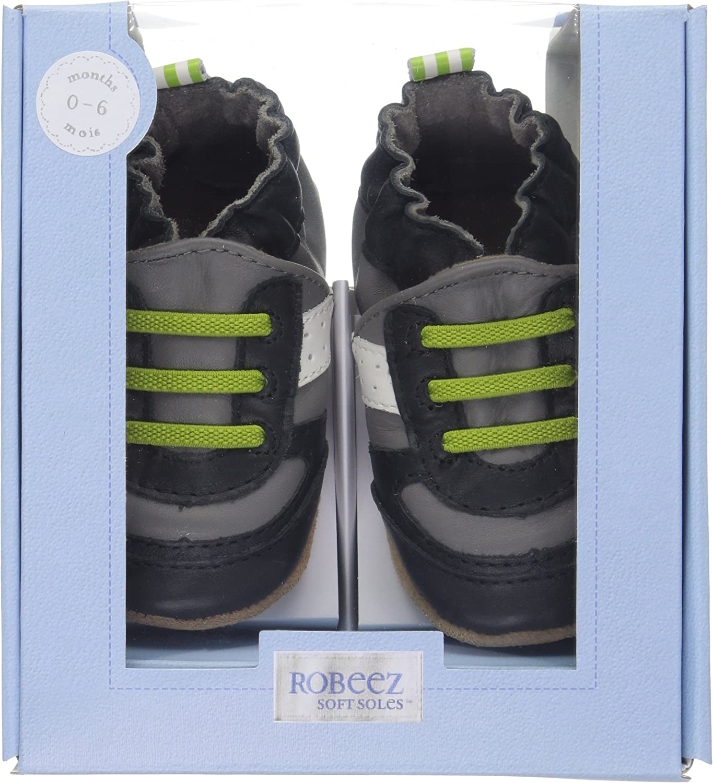 Robeez Baby Boys Super Sporty Lime Soft Sole Infant//Toddler//Little Kid