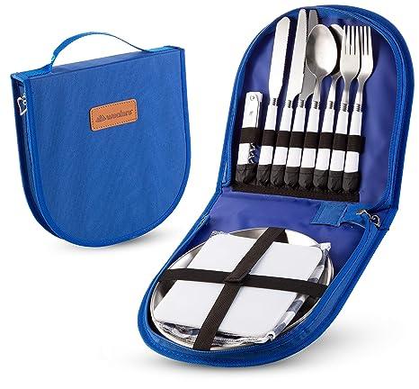 Amazon.com: Juego de utensilios de cocina para acampada ...