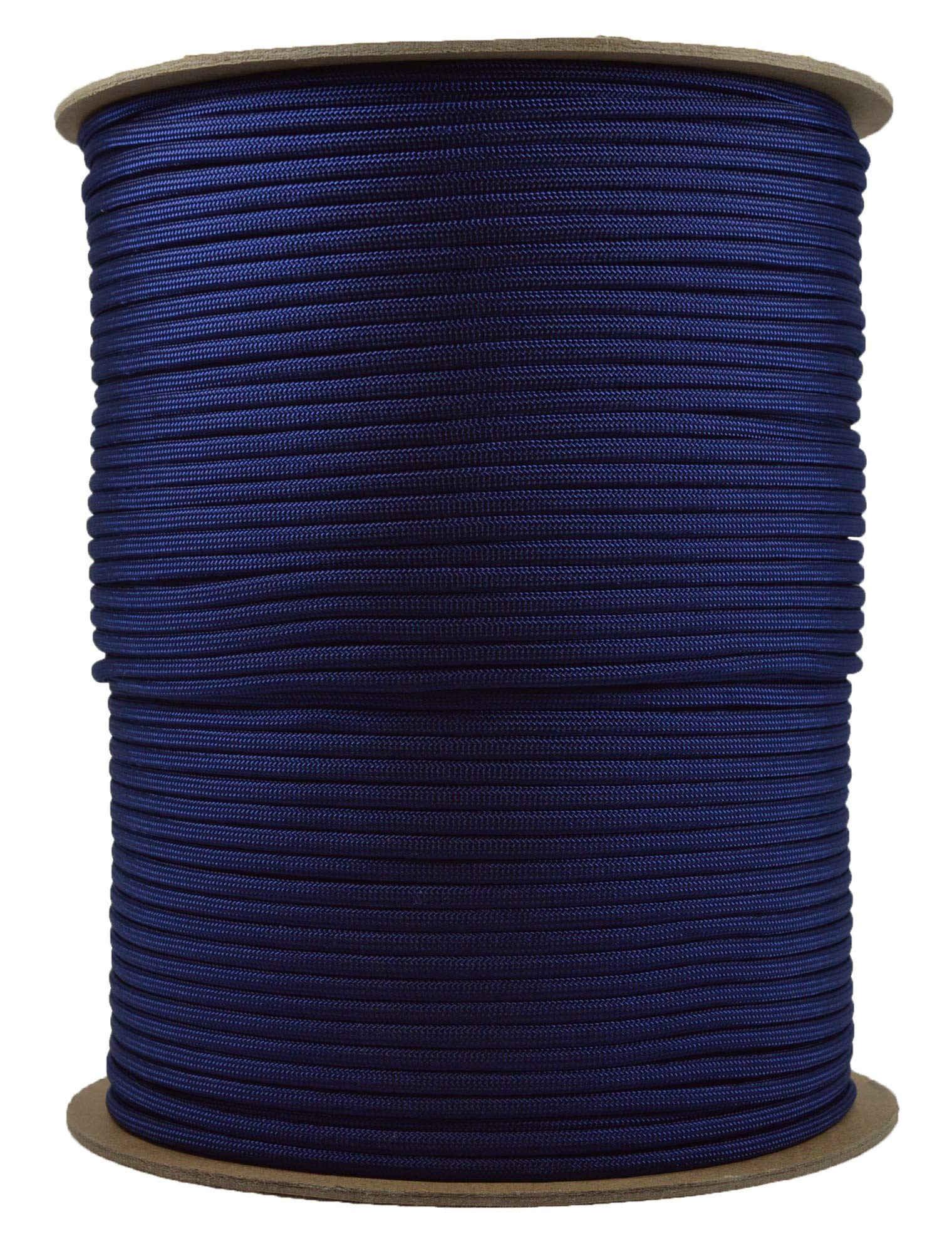Acid Midnight Blue Mil-Spec Commercial Grade 550lb Type III Nylon Paracord - 1000 Foot Spool