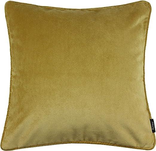 McAlister Textiles Matt Velvet Pillow Cover Case in Fuchsia Pink Square 22x22 Inches Lush /& Plush Luxury Throw Cushion Sham Piping Modern Decor for Sofa Couch