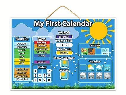 Calendario Bambini Scuola Infanzia.Il Mio Primo Calendario Magnetico Giocattolo Educativo Per