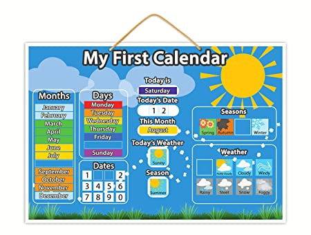 Magnetic My First Calendar Children S Educational Toy With Thick