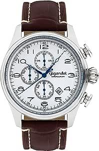 Gigandet G41-003 - Reloj para Hombres, Correa de Cuero Color marrón