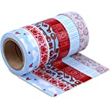 LolliZ Washi Tape  Heart Strings Set with Six Rolls of Fun and Festive Colors