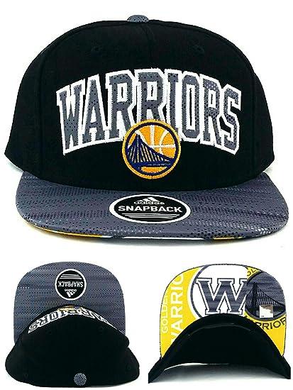 dorado State Warriors nuevo Adidas Metro arco negro y gris oro era Snapback  sombrero gorra 90b7ec3b048