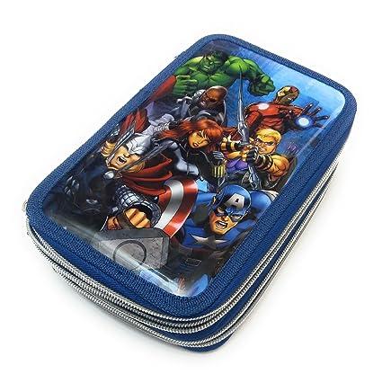 Blau Artesania Cerda Plumier Triple Giotto Avengers Zusatztasche Azul 19 cm