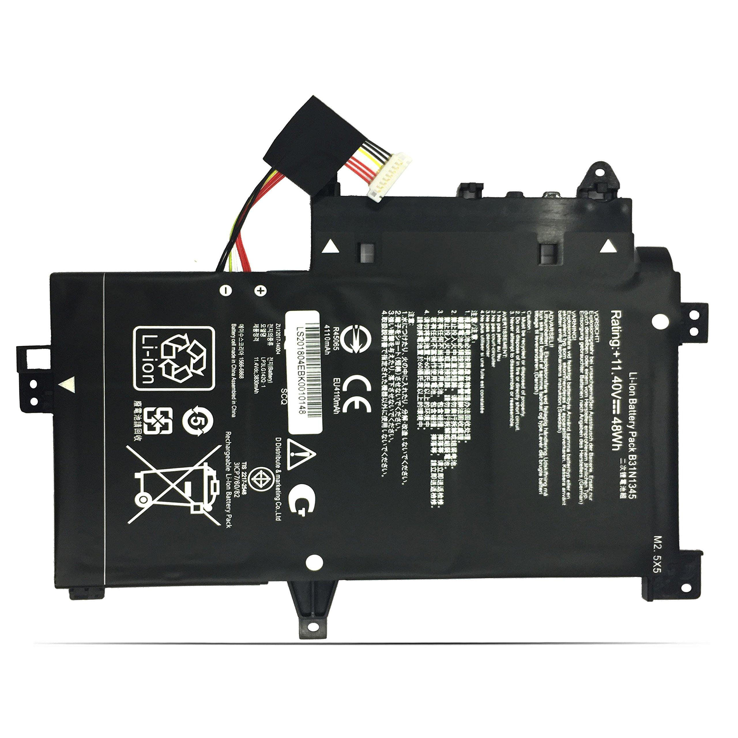 EMAKS B31N1345 Battery B31BN9H for ASUS TP500L TP500LA TP500LB TP500LN TP500LA-EB31T TP500LA-DS71T UB31T FH31T AB53T 0B200-00990100 - 11.4V 48Wh 3-Cell