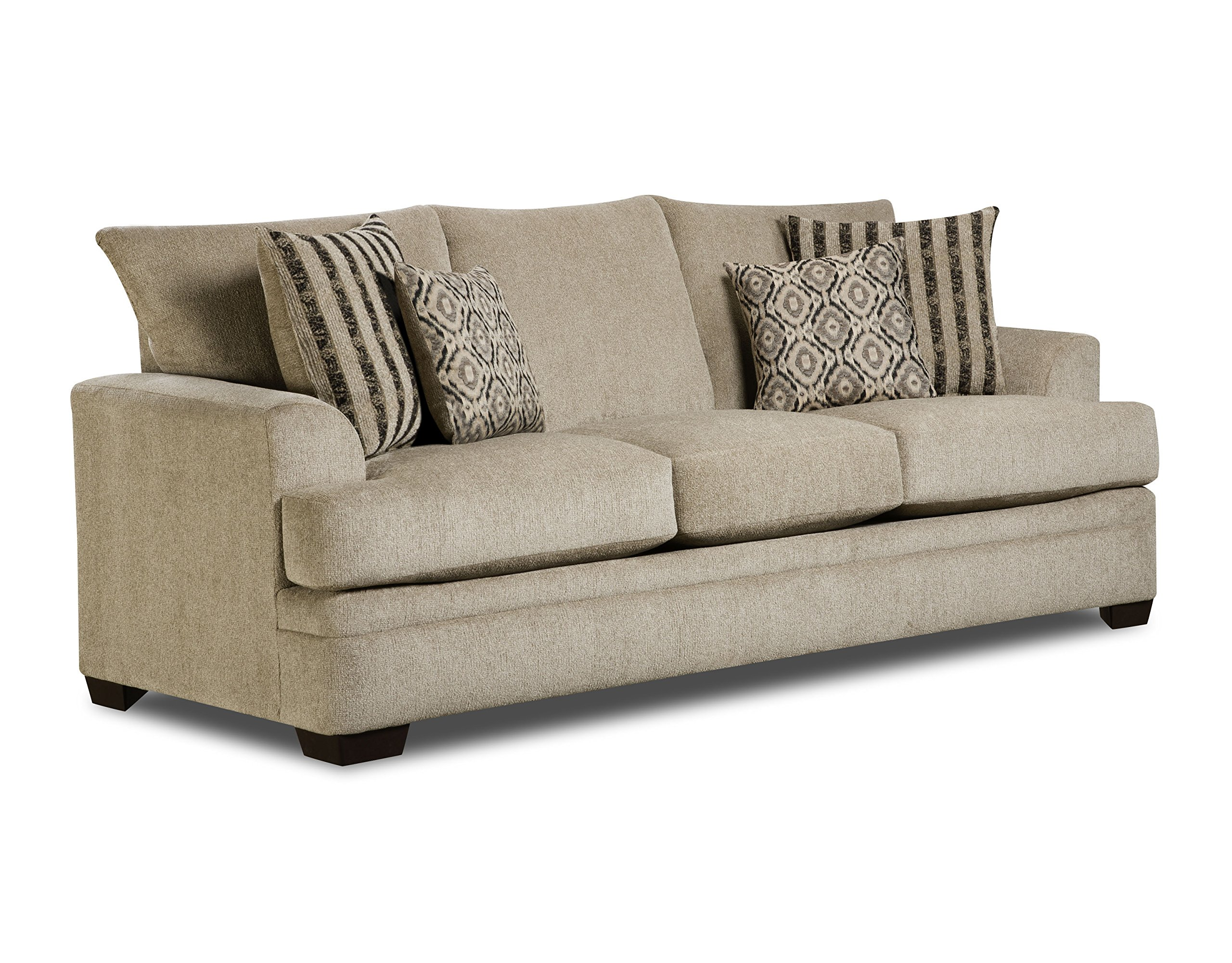 Pearington Savannah Polyester Living Room 3 Seat Sofa, Platinum