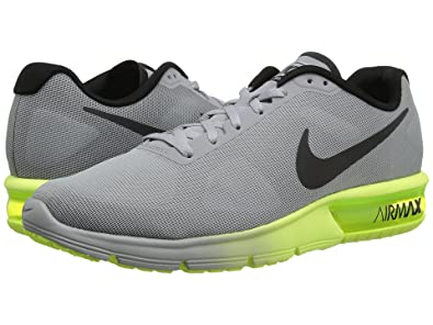 super popular 2e311 acbf1 Nike Men s Air Max Sequent Running Shoes, (Wolf Grey Black-Volt)
