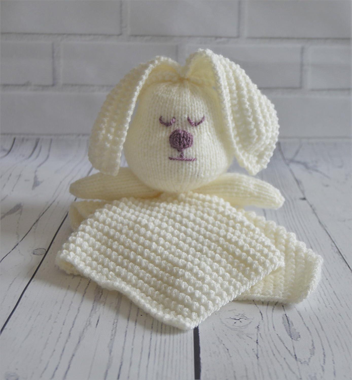 KNITTING PATTERN Rabbit Comforter Blanket From Knitting by Post ...