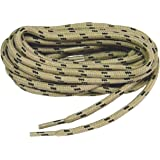 GREATLACES Heavy Duty Kevlar Reinforced Boot Laces Shoelaces (Tan W/Black) 2 Pair Kit