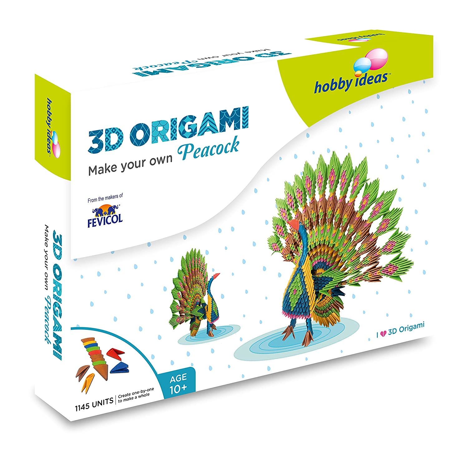 Buy Pidilite Diy 3d Origami Peacock Craft Kit Online At Low Prices