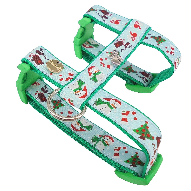 Queenly 4260466960218 arnés del Perro Navidad, XS, Verde de Color ...