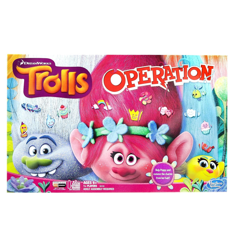 amazon com trolls operation board game toys u0026 games