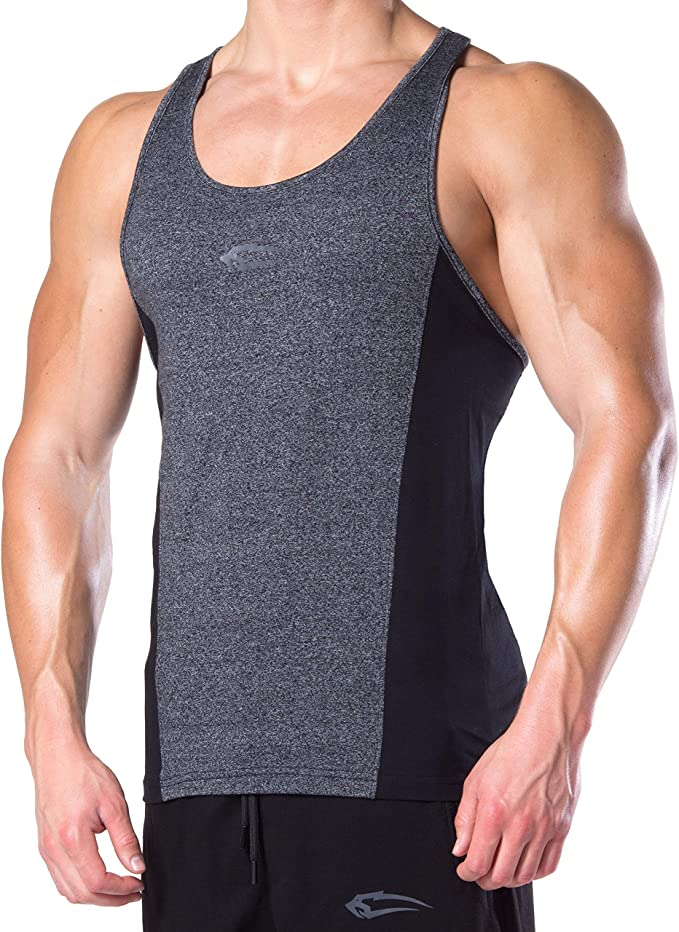 Muscle Shirt Tank Top Achselshirt Seamless Muskelshirt mit Aufdruck f/ür Sport Gym Fitness /& Bodybuilding SMILODOX Stringer Herren Trainingshirt Kurzarm