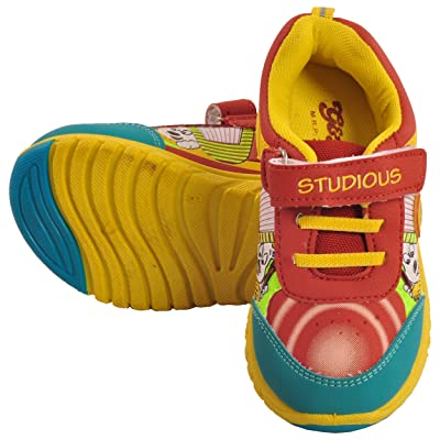Tulaasi Red & Green Kids Sports Shoes with Synthetic Sole