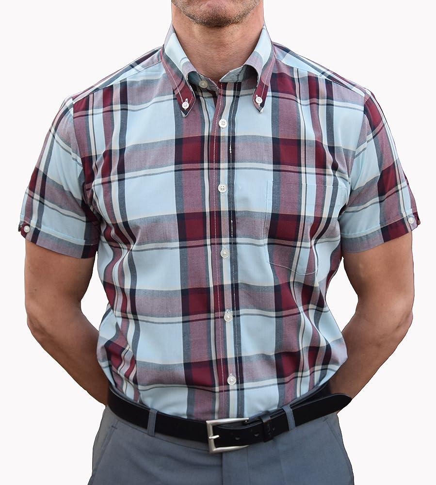 Brutus - Camisa Casual - para Hombre Morado Burdeos X-Large: Amazon.es: Ropa y accesorios