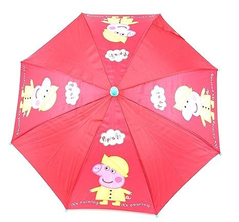 Calidad Peppa Pig Girls Kids Rojo Guardería Lluvia Sol Paraguas nuevo