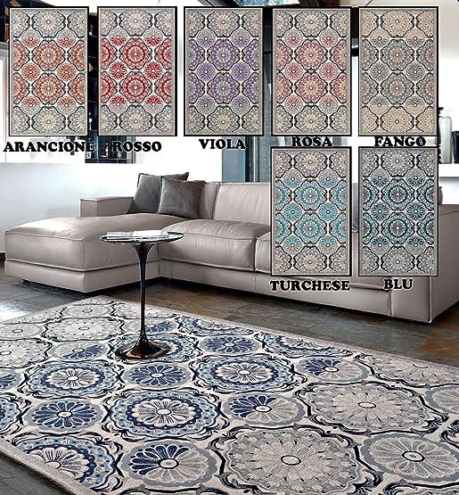 tappeto classico in 6 misure e 7 colori prodotto in italia ... - Soggiorno Azzurro