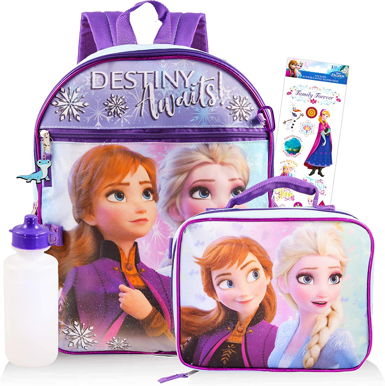 Disney Frozen Backpack for Girls Kids Adults ~ 16 Disney Frozen School Backpack Bag Bundle with Stickers Frozen School Supplies