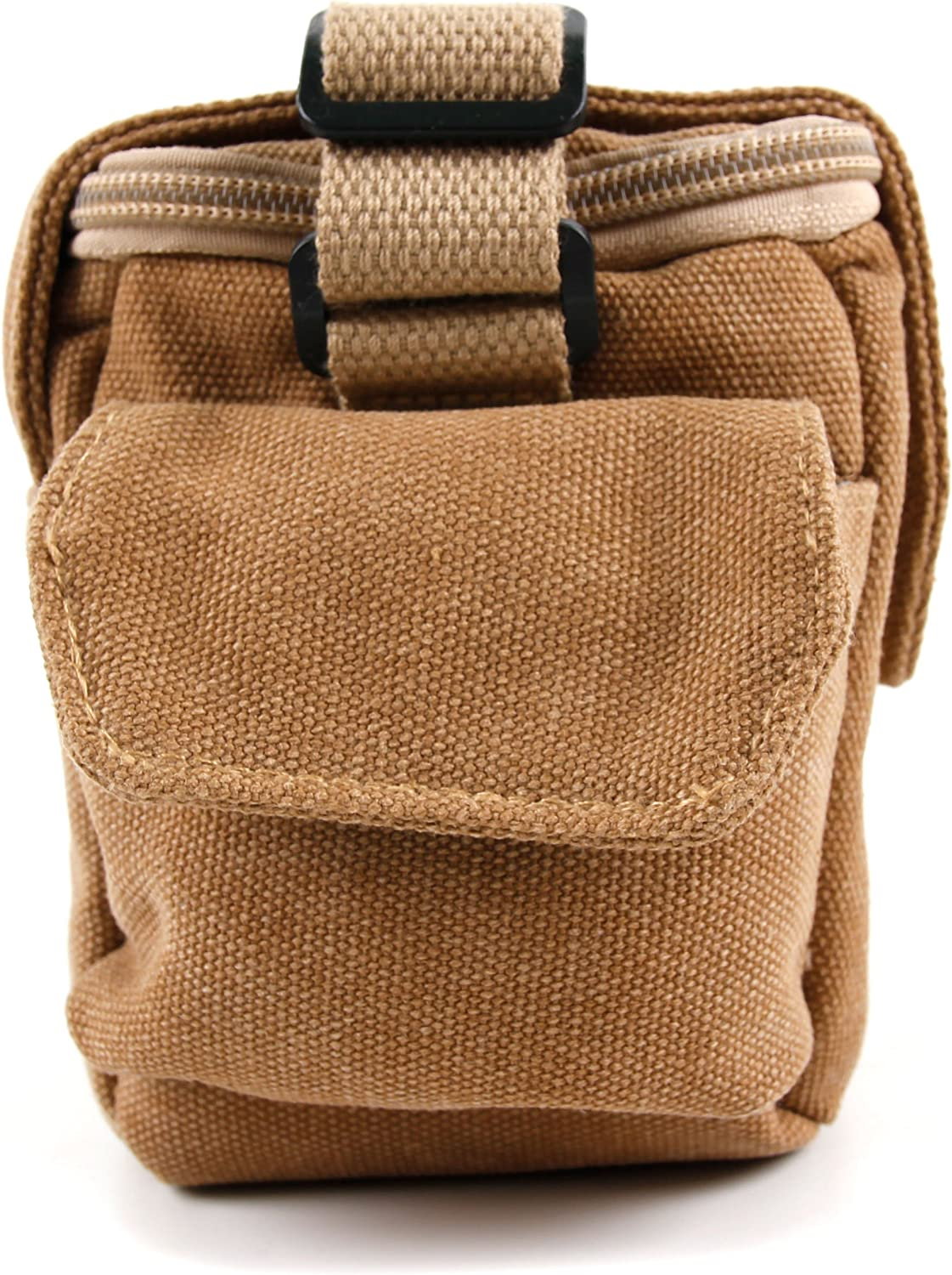 DURAGADGET Light Brown Small Sized Vintage Canvas Carry Bag Compatible with The Canon EOS M100