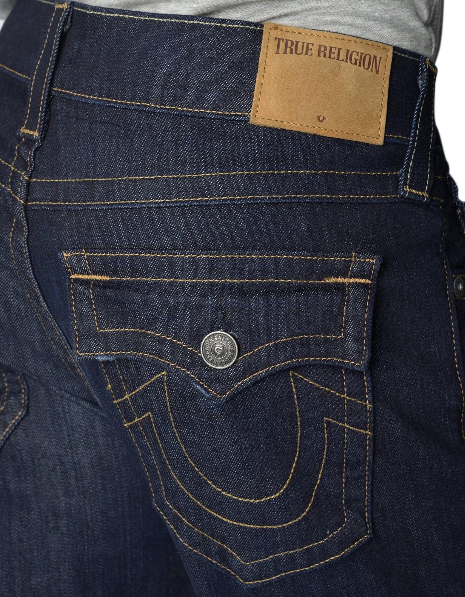 True Religion Men's Geno W Flap Slim Jean, Wanted Man, 40 by True Religion (Image #3)