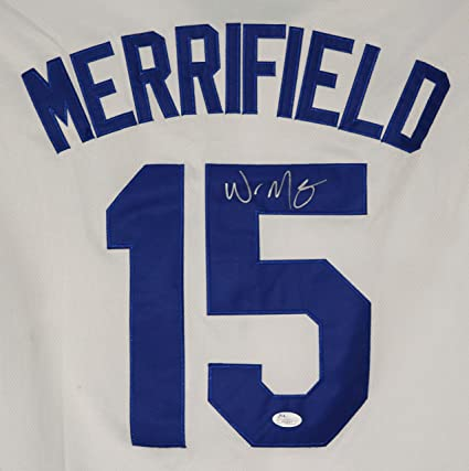 low priced 96355 d9165 Whit Merrifield Kansas City Royals Signed Autographed White ...