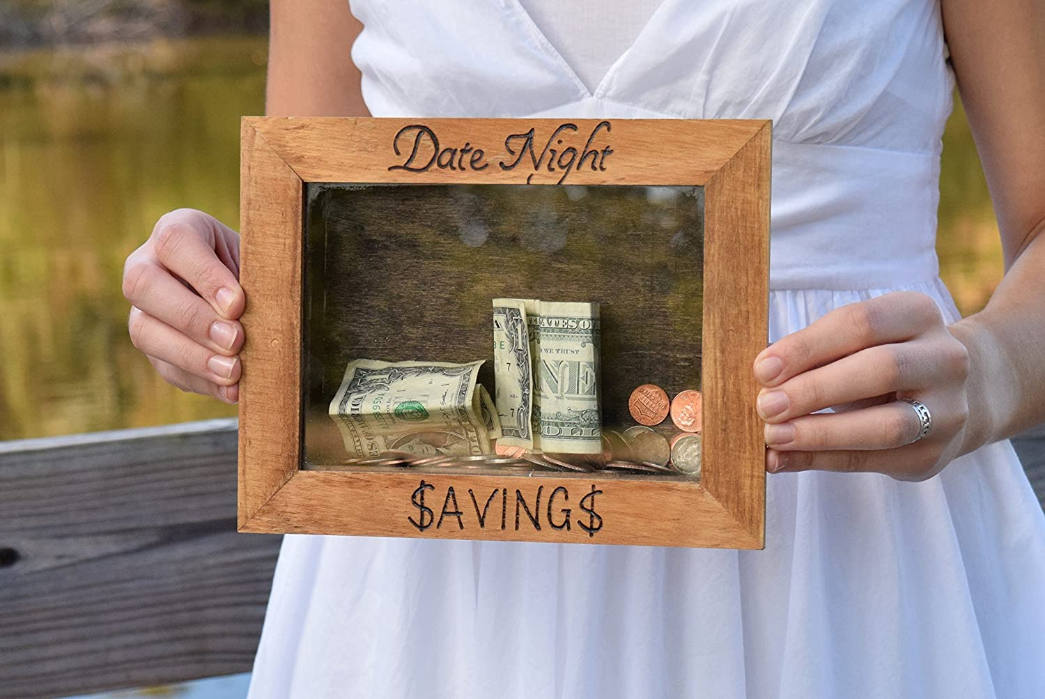 Date Night - Date Night Savings - Piggy Bank - Date Night Jar - Personalized Gift - Shower Gift - Date Night Ideas - Date Night Jar - Picture Frame - Shadow Box