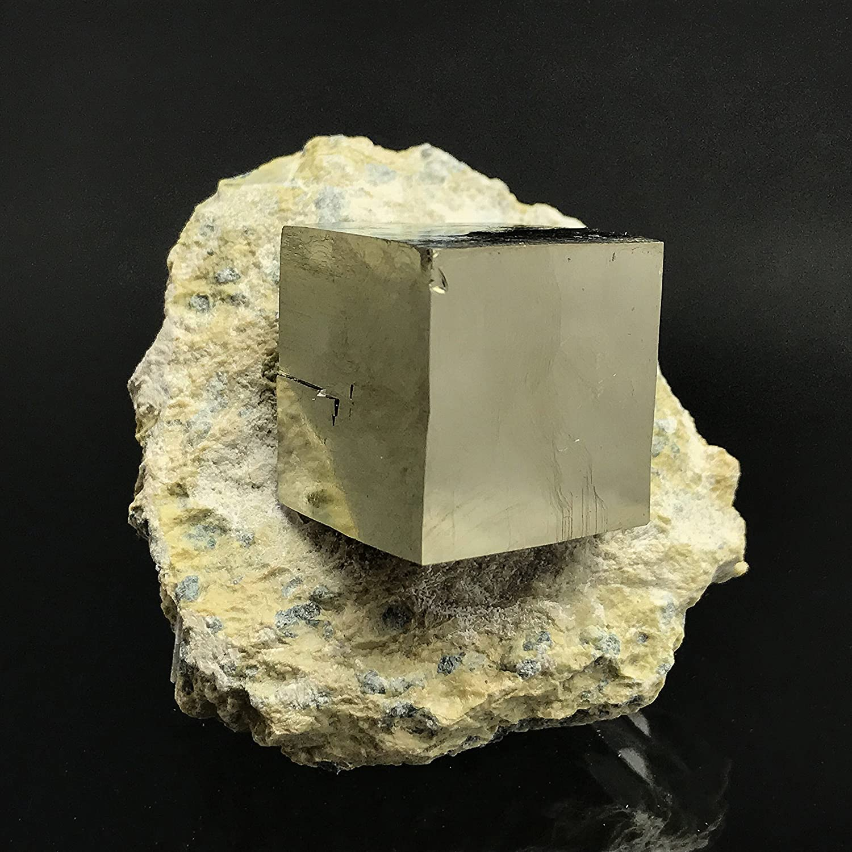 Astro galleria di gemme pirite cubo di basalto da Navajun, Spagna–PB7 Spagna-PB7 Astro Gallery Of Gems